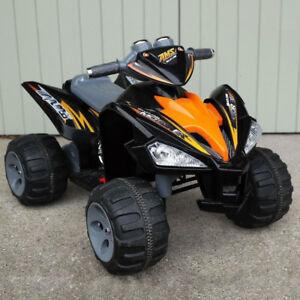 Kids Ride On Quad Bike Pro Raptor Style 12v Electric Battery Toy ATV Car - Black