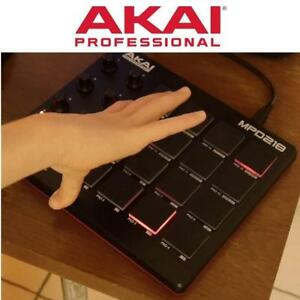 RFB AKAI MIDI DRUM PAD CONTROLLER MPD218 185034391 16 Thick Fat backlit MPC pads USB-powered REFURBISHED