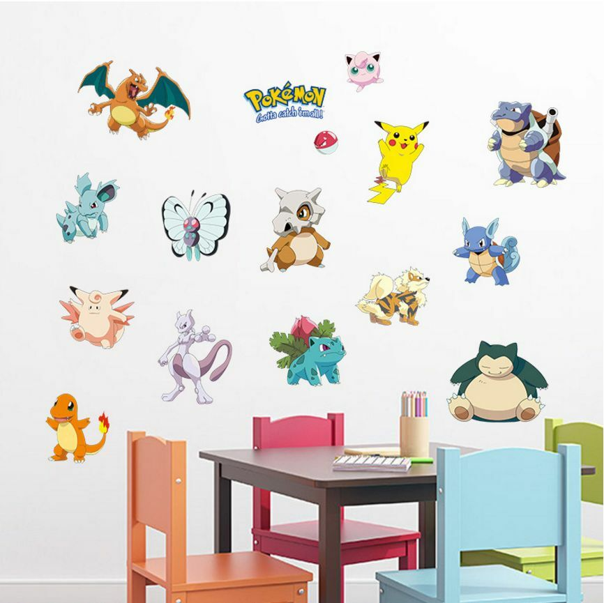 Wall peel and stick decals