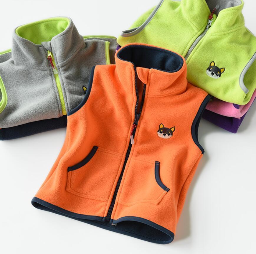 Kids Boy//Girl Fleece Vest Jacket//Gilet Bodywarmer School Waistcoat pullover Tops