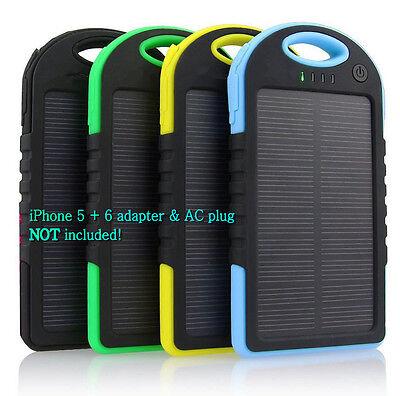 5000 mah Dual-USB Waterproof Solar Power Bank Battery Charge