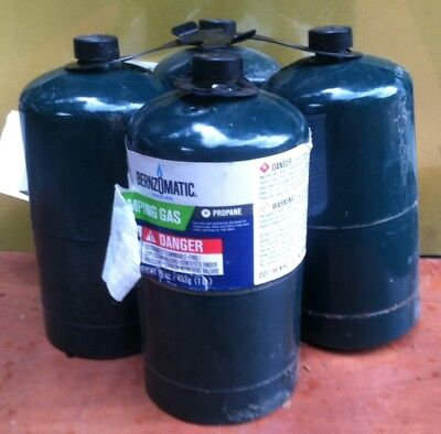 Bernzomatic 16 Oz Propane Camping Gas Cylinders 4 Pack