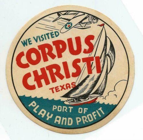 ORIGINAL REAL PAPER~CORPUS CHRISTI TEXAS~1940