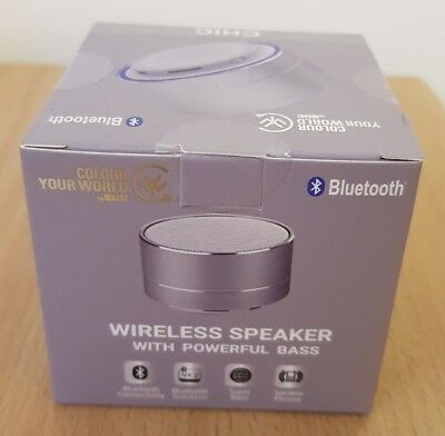 Chic Bluetooth (Urbanz Chic Bluetooth Speaker Powerful Bass Wireless Portable Speaker - Silver)