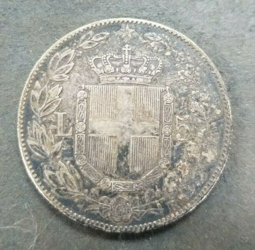 Coin Coin Italy King Umberto I ° Savoy 5 Lire 1879 Silver I870