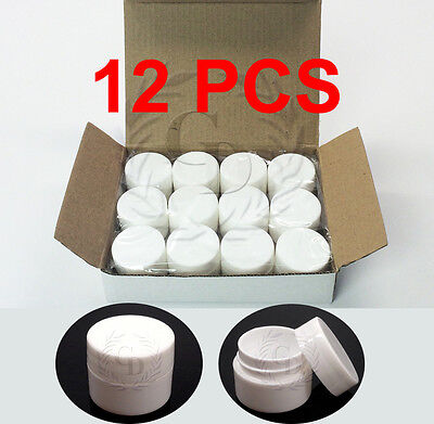 12 PACK 7 Grams Cosmetic Empty Sample Jars Makeup Cream Lip Balm Containers 7 ml
