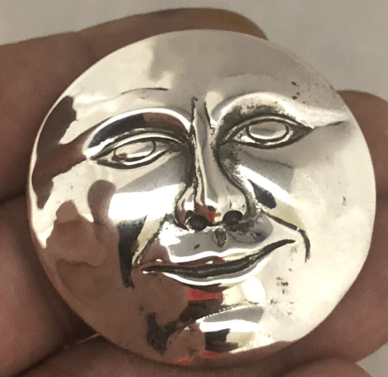 Designer BREAKELL Solid sterling Silver Smiling Face Mask Pin