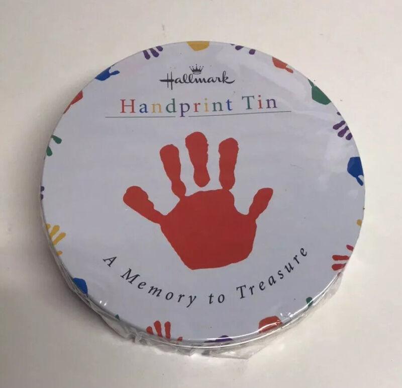 Hallmark Baby Handprint Tin A Memory To Treasure  Sealed Contents