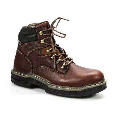 Wolverine Mens Leather Raider 6 Contour Welt Work Boots Brown Size 9EW