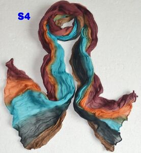 Multi-Color fashion Women's Soft Wrinkle Long Cotton scarf wrap shawl 20