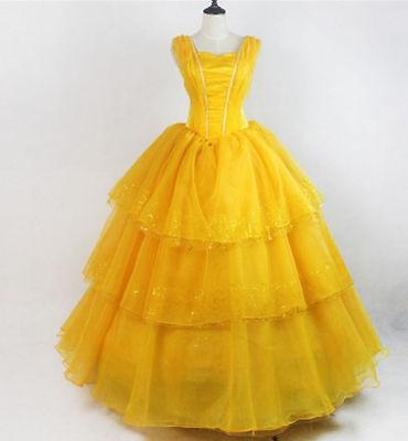 Halloween Damen Prinzessin Belle Kostüm Die Schöne Und - Belle Die Schöne Und Das Biest Kleid