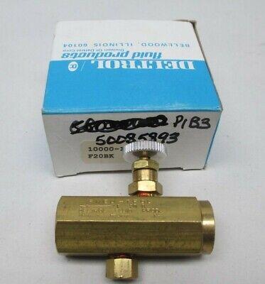 14 Fnpt Flow Control Valve Brass Deltrol Pneu-trol F20bk 10000-10