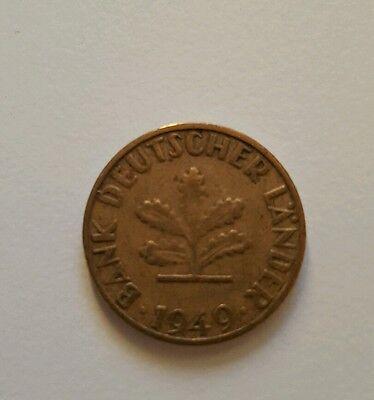 """5 Pfennig Bank Deutscher Länder 1949 """" J """""""