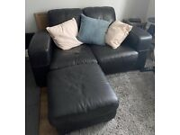 Two seater sofa, Arm Chair and footstool - Free