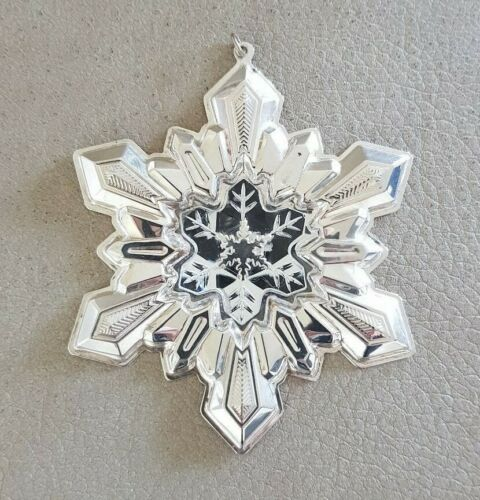Hard to find 2001 GORHAM Sterling Silver Millennium SNOWFLAKE Christmas Ornament