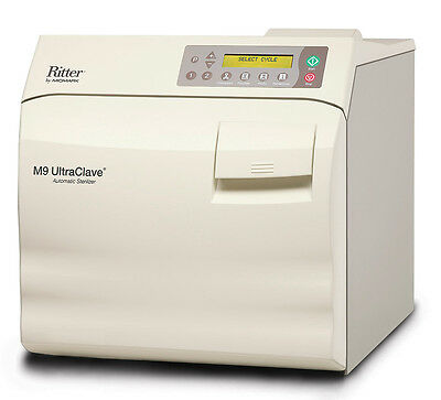 New Ritter Midmark M9 Ultraclave 3.5 Gal. Steam Sterilizer Autoclave M9-022