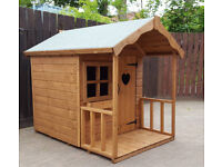4x6 wooden childrens playhouse brand new top quality comes with perspex felt and all fixings