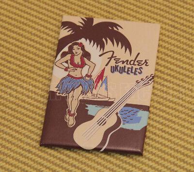 910-0322-000 Ukulele Hula Girl & Waikiki Uke Magnet