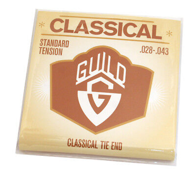 (2 PACKS) Guild USA Classical Tie End Nylon/Silver Guitar Strings 350-7400-405 Tie Classical Guitar Strings