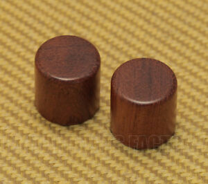 WBRK-B Set of 2 Bubinga Barrel Knobs for Guitar/Bass for 6mm Split Shaft