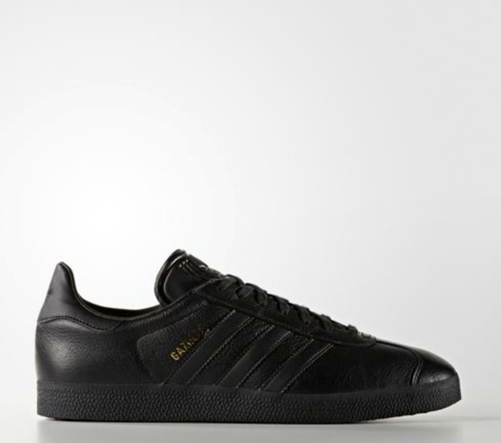 New Adidas Men's Originals Gazelle Shoes (BB5497) Black // Black-Metallic Gold