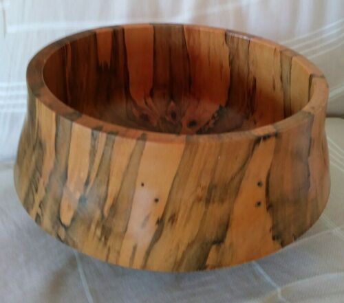 Norfolk Island Pine Turned Bowl - signed and dated 2011 - EUC