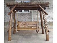Hand-made garden swing
