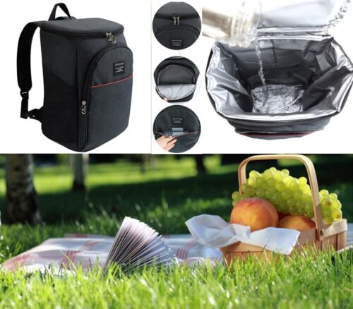 20L Cooler Backpack Insulated Lunch Travel Ice Pack Picnic Camping Drinks Bag Camping & Hiking