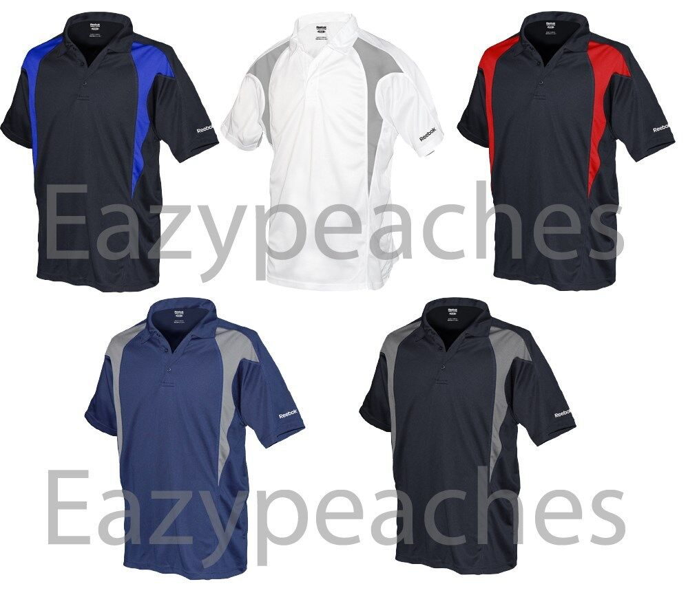 REEBOK GOLF NEW Mens Size ColorBlock Dri-fit Polo Sport t Shirts 2X, 3X, 4X, 5X