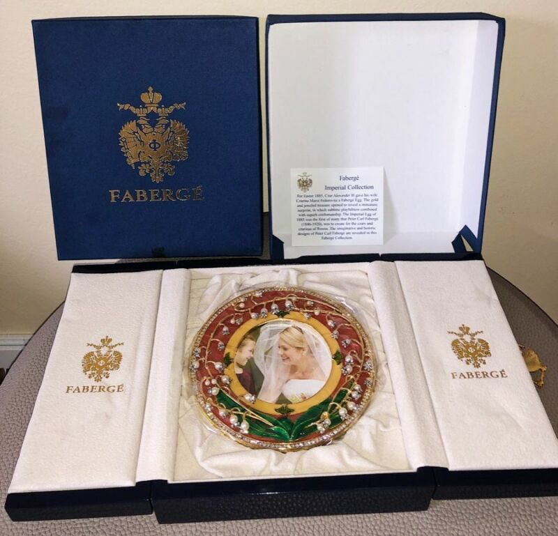 Faberge The Lilies of The Valley  Circular Picture Frame  #1238