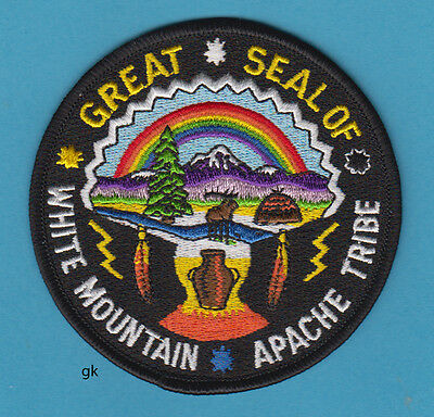 GREAT SEAL WHITE MOUNTAIN APACHE TRIBAL SHOULDER PATCH