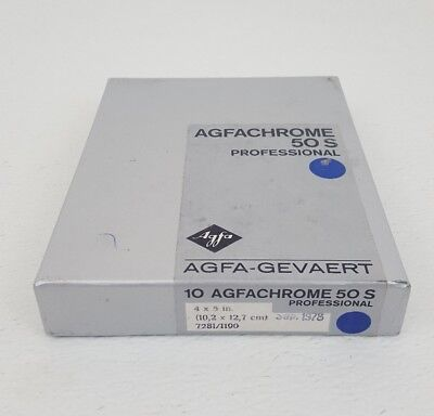 AGFA AgfaChrome Professional 50 S Color 4x5 Reversal Film 10 sheets exp 09/78