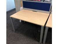 professional rectangle desk table with metal solid metal frame