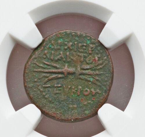 27 BC 14 AD Roman Cilicia Olba Augustus AE NGC VF issue by Ajax high priest