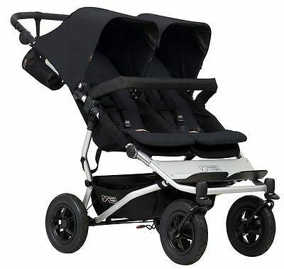 Mountain Buggy Duet Compact All Terrain Twin Baby Double Stroller Black NEW 2017