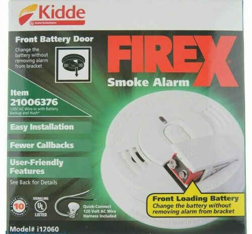 Kidde I12060 AC Hardwired Smoke Alarm-24 PACK MANUFACTURED 2021