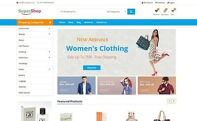 Amazon Aliexpress Ebay Affiliate Website For Sale All-in-one Ecommerce Website