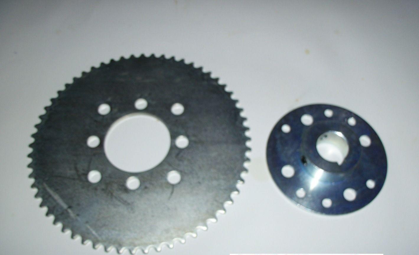 "P5256-1/"" Bore 32 Tooth Sprocket Aluminum #35 Chain 1.687/"" Bolt Circle 2032"