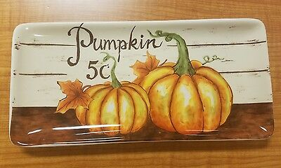 BRAND NEW Maxcera Pumpkin Halloween Thanksgiving Plate Platter Home Decor - Halloween Platters