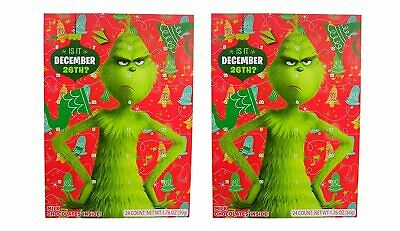 Seuss' The Grinch Christmas Holiday Countdown Chocolate Advent Calendar, 2 Pack