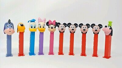VTG Lot of Disney Pez Dispensers Mickey Mouse Minke Donald Daisy Pluto