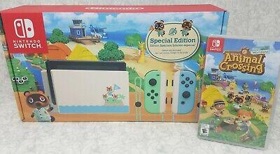 Nintendo Switch Animal Crossing Console + Animal Crossing Game Bundle