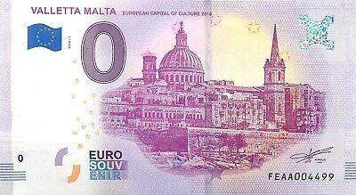 VALLETTA MALTA  - SOUVENIR BILJET 0 EURO, Malta - 2018/1-UNC(SB52)