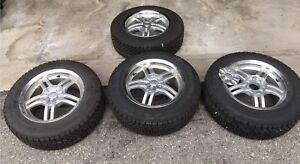 195 65/R15 Nearly New 4 Goodyear Nordic Snow Tires On Alloy Rims