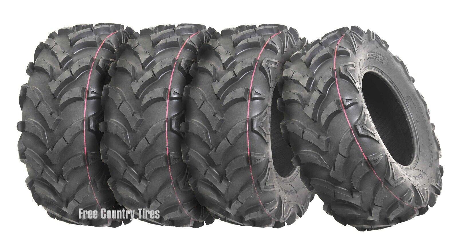 6 Ply Tubeless VANACC Set of 2 24x11-10 ATV UTV Tire All-Terrain Off-Road