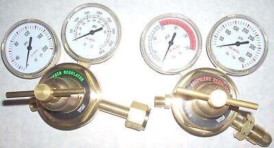 Oxygen Acetylene Lp Propane Regulator Set Cutting Welding 2 12 Gauges Cga510