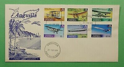 DR WHO 1979 ANGUILLA FDC POWERED FLIGHT ANNIVERSARIES  C240876