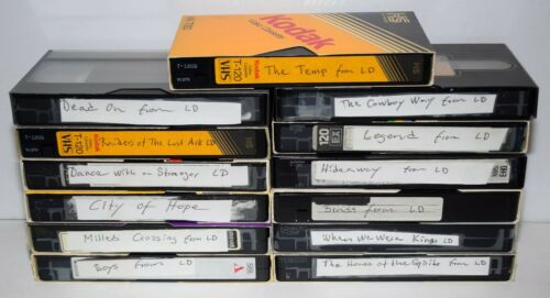 Lot of 13 Various Brands VHS Tapes Sold As Blank Media - Lot # 24