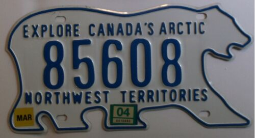 2004 NORTHWEST TERRITORIES CANADA* FREE USPS SHIPPING License Plate 85608