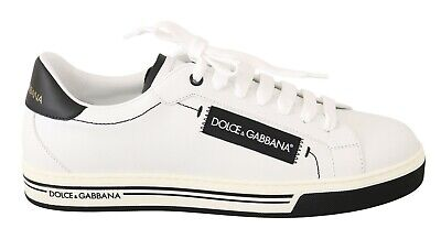 DOLCE & GABBANA Shoes Sneakers White Leather Casual Mens EU41 / US8 RRP $500